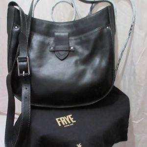 Frye Olivia black leather crossbody bag